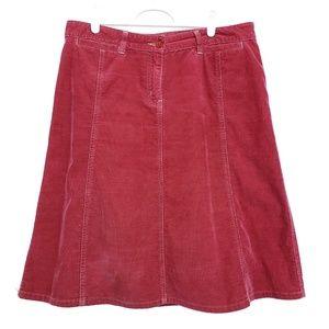 Halogen | Corduroy midi skirt